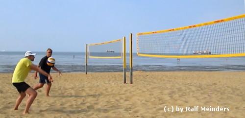 Strand von Cuxhaven-Duhnen.