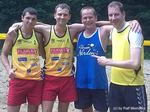 Die späteren Sieger der ECSG Karpunins/Zodziks aus Lettland und mein Partner Mike Altenburg