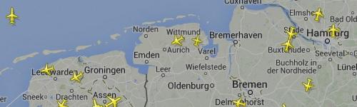 Weiter zu Flightradar24 Norddeutschland