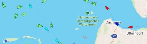 Weiter zu MarineTraffic Deutsche Bucht