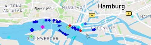 Weiter zu MarineTraffic Hamburger Hafen