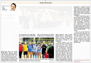 Nordwest-Zeitung vom 12.08.2018