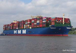 HMM Algeciras. Größtes Containerschiff der Welt (06/2020)
