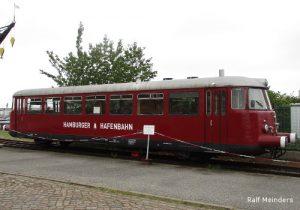 Historischer Triebwagen der Hafenbahn